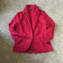 Express Khaki Red Jacket 3/4 Sleeve Size 6 Blazer Collar Princess Button Tan Photo
