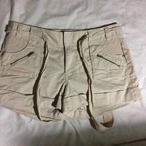 Express Khaki Shorts Size 6 Cuff Belt Photo