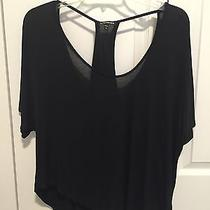 Express Knit Top With Cutouts Black Size S Photo