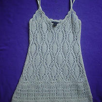 Express Lace Crochet Sweater Top Xs Photo