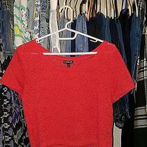 Express Lace Red Crop Top Photo