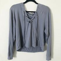 Express Lace Up Thin Hoodie Womens Size Small Photo