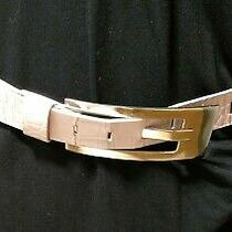 Express - Ladies Belt - Pink Genuine Leather Made in Italy - Size M - 40 Inches Photo