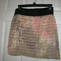Express Ladies Multicolor Ruffled Lined Elastic Waist Short Skirt Size M  Photo