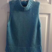 Express Ladies Size L Aqua Blue Knitted Sleeveless Top Photo