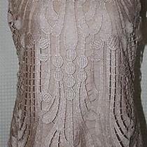 Express Ladies Size L Crochet Front Sleeveless Blouse Photo