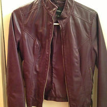 Express Leather Like Jacket (Eggplant Purple) Size Xs Great Condition Photo