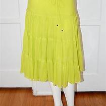 Express Lemon Green Peasant Style Skirt Size Xs Photo