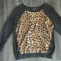 Express Leopard Sweater Xs Photo
