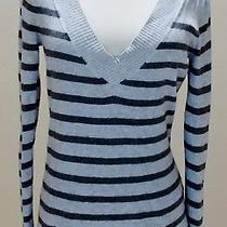 Express Light & Dark Grey Gray Striped Sweater - Size Medium Photo