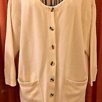 Express -Lightweight Off White (Ivory) Cardigan Cardi Jacket-Size Xs -Runs Large Photo