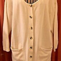 Express -Lightweight Off White (Ivory) Cardigan Cardi Jacket-Size Xs -Runs Large Photo