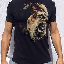 Express Lion Textured Fitted Tee Shirt. Size Mens Small. Black. Photo