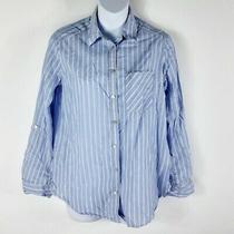 Express Long Sleeve Button Down Dress Shirt Women Size S Photo