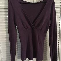 Express Long Sleeve Faux Wrap T Shirt Knit  M Photo
