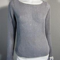 Express Long Sleeve Net Sweater Size M Gray  Photo