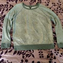 Express Long Sleeve Sweatshirt Silver Women's Large Photo