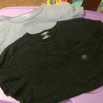 Express Lot of 2 Tees Women's Size Medium. Lilac and Black.  Photo