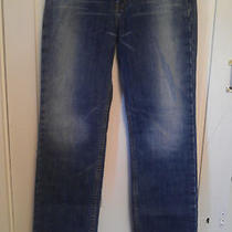 Express Low Rise Boot Cut Womans Jeans Size 5/6 Length Short Darkblast  Photo
