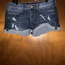 Express Low Rise Jean Shorts Size 8 Photo