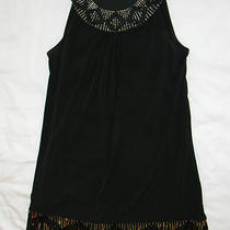 Express M Medium Black Dress Silver and Black Beads Holidays Party Hot Hot Photo