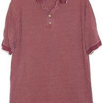 Express Mark Burgundy & Tan Weave Polo Shirt Size Large Photo