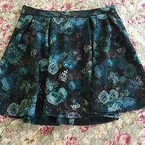 Express Med Blue Floral Skirt Photo