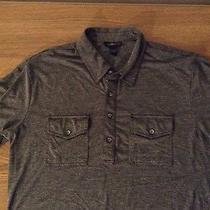 Express Men Button Up Shirt Size Large Gray Photo