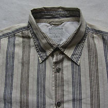 Express Men's 100% Cotton Precision Fit L/s Button Down Striped Shirt - Medium Photo