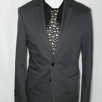Express Men's 36s Gray Cotton Poly 2b Fitted Photographer Blazer Photo