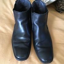 Express Men's Black Chelsea Boots Size 10 Photo