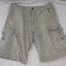 Express Men's Cargo Beige Khaki Chino Shorts 34 Photo