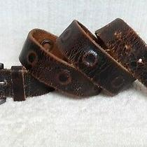 Express - Men's Casual Belt - Brown Leather - Silver Tone Buckle - Size 38 Photo