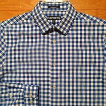 Express Men's Casual Dress Shirt Size Small Modern Fit Vguc 14-14.5 - S29hp09 Photo