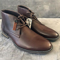 Express Men's Chukka Genuine Brown Leather Boots Size 12 Never Worn Photo