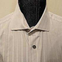Express Men's Dress Shirt - Light Gray With French Cuffs (S 14-14 1/2) Photo