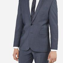 Express Men's Extra Slim Blue Performance Wool-Blend Suit Jacket 36s Photo