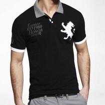 Express Men's Fitted Extra Large Lion Graphic Pique Polo - L Photo