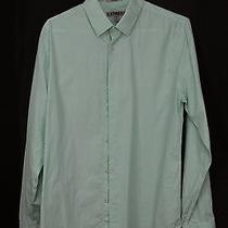 Express Men's Fitted Size M 15-15 1/2 Dress Shirt Long Sleeve Micro Dots Photo