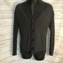 Express Men's Gray Cardigan Sweater 100% Cotton Size S Small Photo