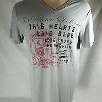 Express Men's Gray Graphic T Shirt Size Medium Defense of Honor  Photo