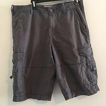 Express Men's Gray Shorts 100% Cotton Durable Reinforced Summer Clothes Size 32 Photo