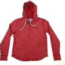 Express Men's Hoodie Sweater Cotton Blend Red Pulllover Sueter Sweatshirt Sz S Photo