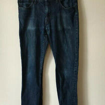 Express Men's Kingston Classic Fit Bootcut Blue Jeans Size 32x32 Cotton Photo