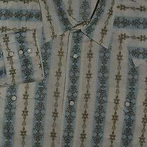 Express Men's Modern Fitted Western Shirt Pearl Snap Size Xl  Photo