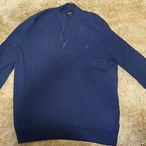 Express Men's Navy Blue Half Zip Sweater Size Xxl Tall Nwot Photo
