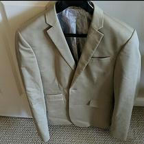 Express Men's Photographer Blazer Jacket Sports Coat Size 38r Khaki Beige  Photo