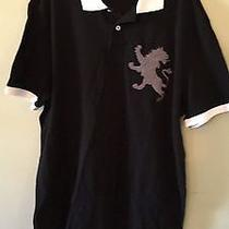 Express Men's Polo Shirt With Lion Logo Size L Black  Photo