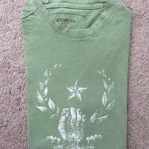 Express Men's S Tshirt Graphic Tee Green Short Sleeve Photo