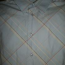 Express Men's Size S Long Sleeve Button Front Shirt 100% Cotton Blue Photo